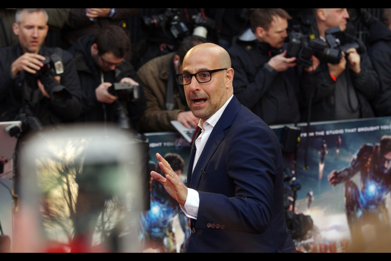 Surprise arrival : Stanley Tucci, excellent in almost every role he plays, but I'll put forth Hunger Games as one recent one and Captain America as one from a few years ago, and The Devil Wears Prada from...well... not that I've watched it or anything. *cough*