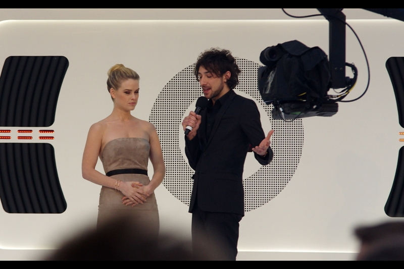 "Alex Zane :  ""Okay, Alice. Now I want you to imagine you're on a beautiful beach...""  Alice Eve : "" And are there thousands of women screaming for Benedict Cumberbatch on that beach?""  Alex Zane :  ""Probably"""