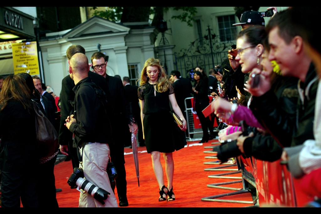 Natalie Dormer isn't in this film, but the red carpet kind of parted as she sashayed down it. You can't buy that kind of power, as the guy in Batman Begins once said.