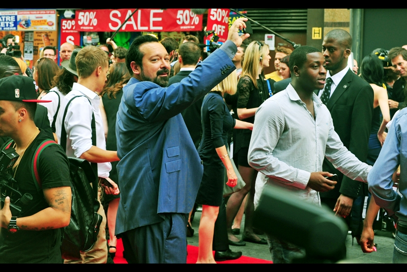""""""" Yeah, I'm taking a photo of the red carpet hilarity at my own premiere. You got a problem with that?""""  Not at all - I actually think ALL directors should acknowledge that it's pretty awesome to have a premiere in Leicester Square. James Mangold, incidentally, directed Walk the Line (2005), Girl, Interrupted (1999) and 3:10 to Yuma (2007), none of which I've thus far watched. I've watched Copland (1997) and Knight and Day (2010) however."""