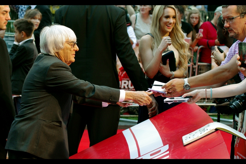 Bernie Ecclestone, meanwhile, owns Formula 1 and has been married three times and has three kids. However, as his net worth is estimated by Forbes at some $US3.8billion he's probably doing okay. I think he's signing autographs on ten thousand dollar cheques in this part of the crowd.