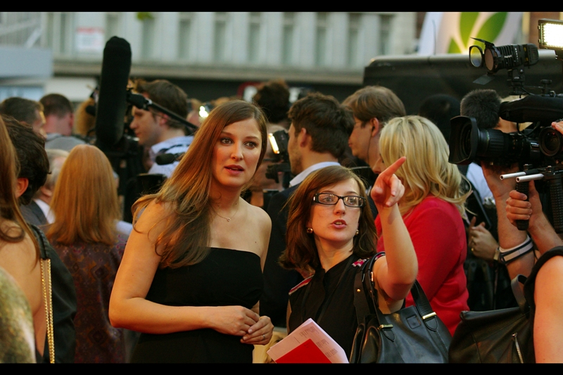 """""""The queue for refreshments at this premiere is murder at every station, but I think your best bet is over there, at Burger King""""  Alexandra Maria Lara's assistant could well be right."""