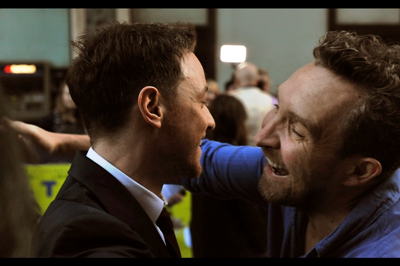 "Eddie Marsan (most recently photographed at the premiere of  ""The Worlds End"" ) is in this movie, and has just been reunited with James McAvoy, who coincidentally is also in this movie."