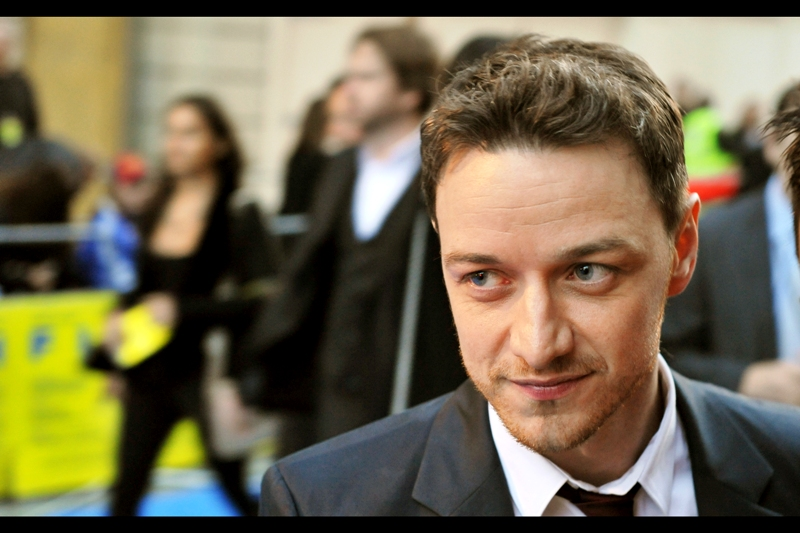 "James McAvoy was also in Wanted, Atonement and had a role in  ""Arthur Christmas""  (though he was not at that premiere). He's also happy to pose for as long as necessary to nail that wistful look."