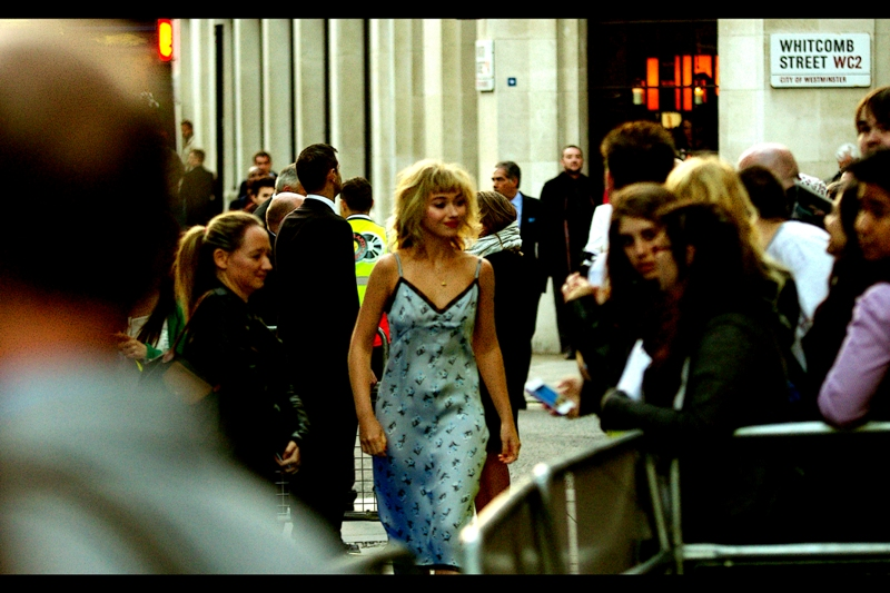 The awesomely named Imogen Poots arrives. The name rings a bell (because I think once you've heard it once, it's never going to be mistaken for any other name, ever), but I don't think I've ever photographed her and can't recognise her from anything.