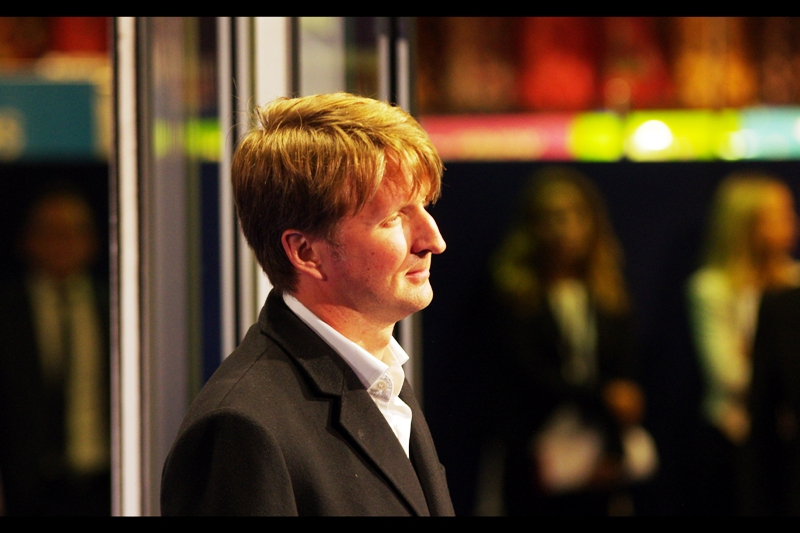 "I don't know what the connection between director Tom Hooper (pictured) and director Ridley Scott is (except for the obvious), but he showed up. Hooper won a Best Director Academy Award for ""The King's Speech"" in 2011, and also more recently directed  ""Les Miserables which even had a premiere I atteneded"