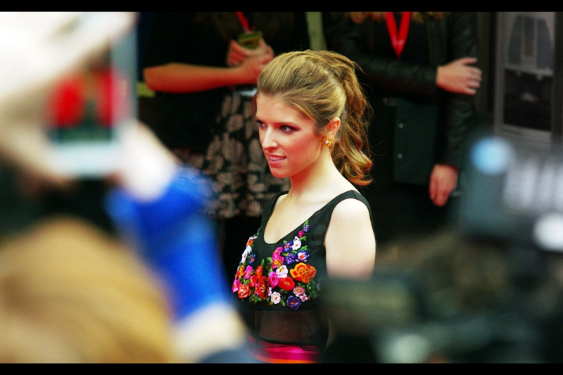 Sorry for non-fans of Anna Kendrick, but given the choice of photographing the dude with the beard or her, just this once I'm coincidentally erring on the side of the person who was in Twilight.