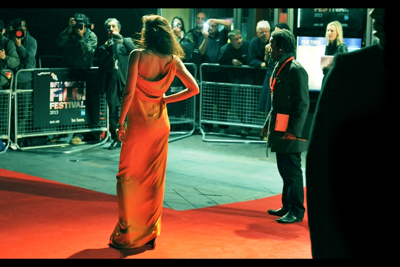 Orange dress on Red Carpet. My camera's metering might not like it, but I remain positively inclined.