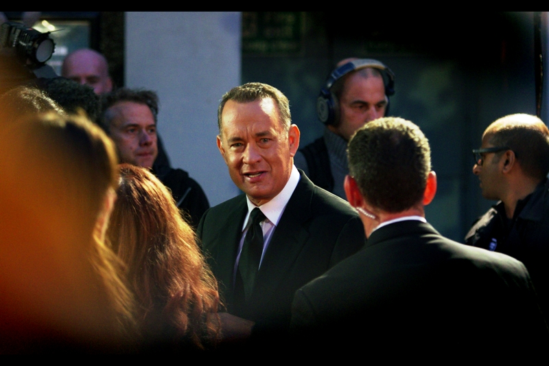 Tom Hanks was part of the London Film Festival  opening gala for 'Captain Phillips'  and here he was again, looking all reliable and authoritative. Between him and Morgan Freeman, you could pretty much sell ebola-flavoured cookies on trust.