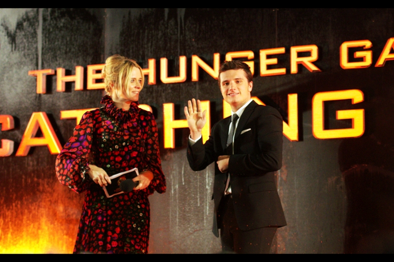Josh Hutcherson still owes me five dollars, hence the reluctant eye contact.