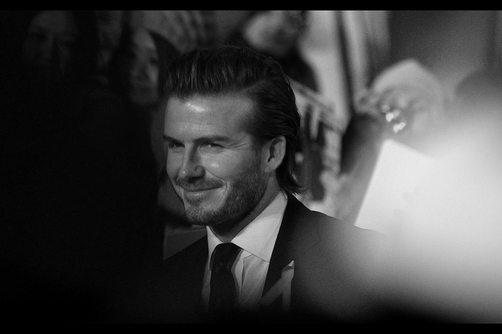It's David Beckham! Please allow me to one day let you buy me a drink so I can tell you how the battery on my old Pentax K10D ran out while taking a rapid-shot burst IN THE MIDDLE of a free kick he took for LA Galaxy against Sydney FC at Sydney Olympic stadium. The last photo I took was of the ball clearing the wall of defenders... then the battery gave out. Needless to say Beckham nailed that goal, and I missed it. I'll be having that drink now. Again.