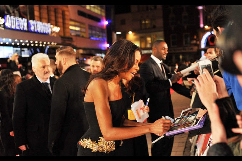 """I can sign it... but i can't write a full review on the back of the DVD...""  Naomie Harris. Again."