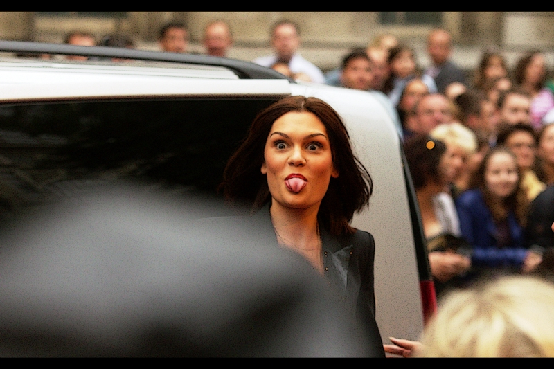 More eye-contact than I might have wanted, in the form of singer Jessie J!