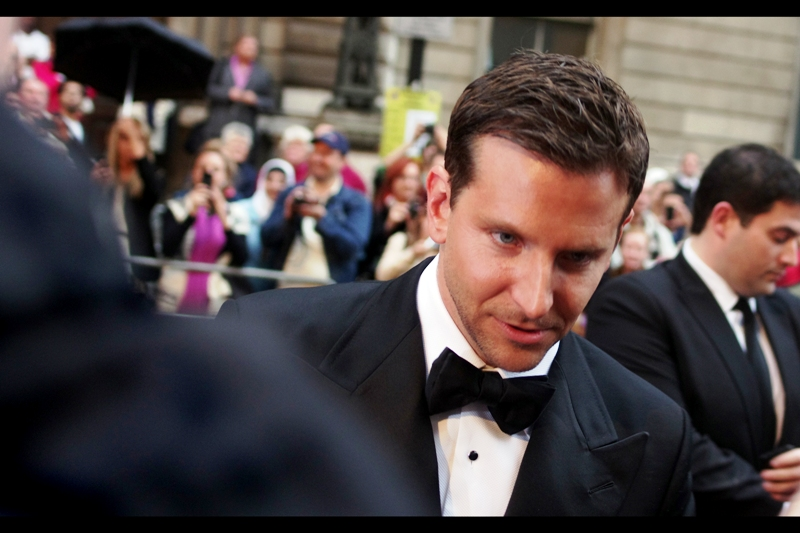 "Bradley cooper was voted ""International Man Of The Year 2011"" by some kind of arcane GQ Methodology I'm not privy to  (I suspect it centers around ""a. he's cool and we'd like to meet him; and b. if we invite him, would he come; and if we gave him an award would that make it much more likely he'd come?"". See also : U2) ."