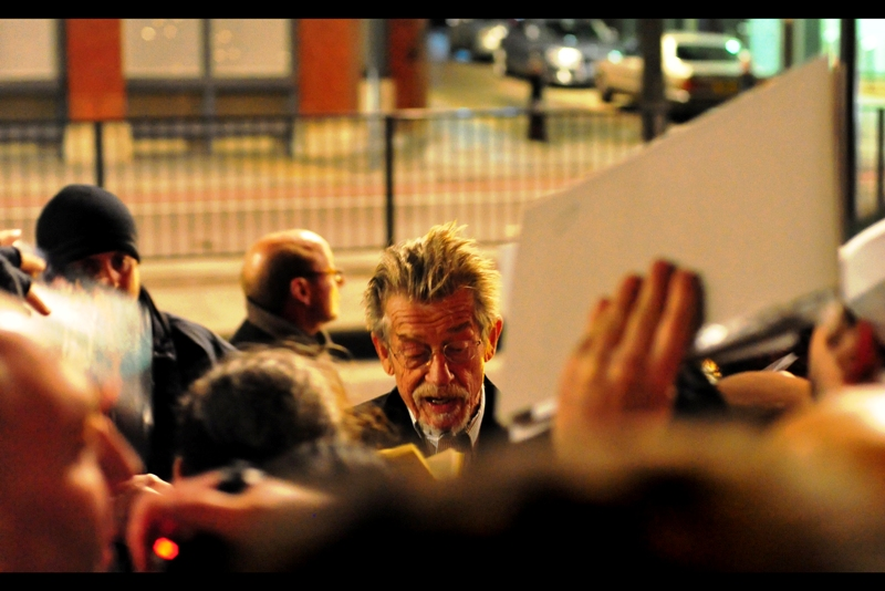 """""""No, dear boy. I have no idea what kind of wand would choose you""""  John Hurt indulgently signs for fans. (Among a long career of roles, he was also Ollivander the wand-maker in the Harry Potter movies)"""
