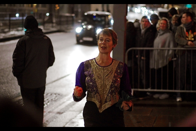 Celia Imrie is possibly even better know for the jacket/vest/top she's wearing than her role in 2001's Bridget Jones' Diary... or the role of Fighter Pilot Bravo 5 in Star Wars Episode I : The Phantom Menace (also.. you rock, IMDB)