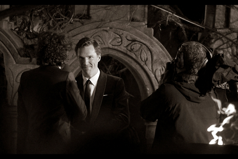 Murderous glare from Benedict Cumberbatch? Yes, but sadly not aimed at me. I'll keep trying.