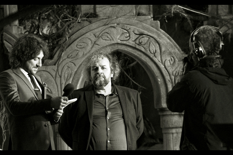 In lieu of waving, Sir Peter Jackson elects to glower at me instead. He's entitled to that... I may have in the past called these movies a cynical (albeit well crafted) cash-grab from the studio and all involved.... to some extent.