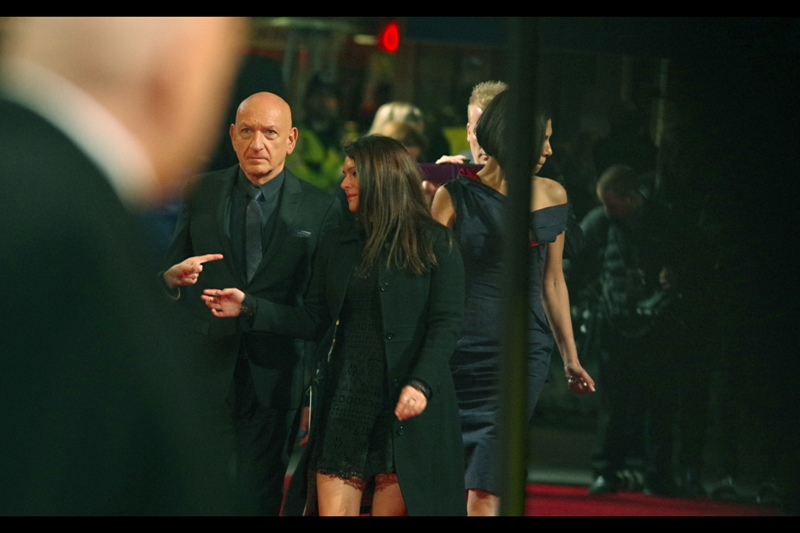 Sir Ben Kingsley arrives, and between Him, Security Dude and me, we momentarily have a near-alignment of three bald-or-balding heads of the kind that NASA might consider landing probes on.