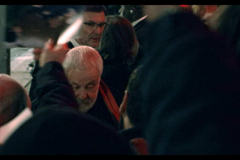 Excitingly, this *IS* a director - 7 time Oscar Nominee Mike Leigh. His scarf is nice... but it hardly attains the levels of awesome achieved by fellow director Terry Gilliam, whose scarves are more like dishtowels. (Then again, Gilliam has only one Oscar nomination to his name...)