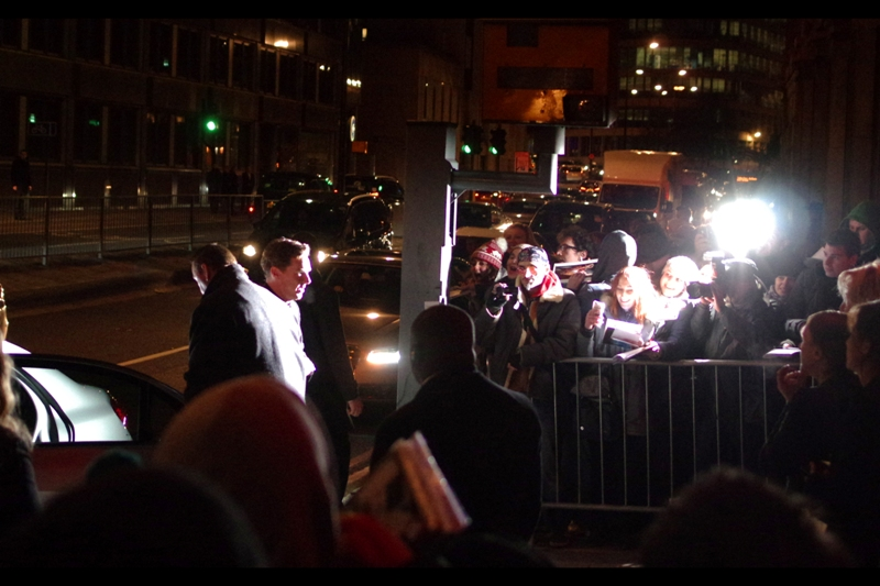 """The man we're all here to see (if not Brendan Gleeson), BENEDICT CUMBERBATCH!! I'd be a lot more pissed off about the quality of these photos if I hadn't photographed him last week at  the world premiere of """"The Hobbit : Battle of the Five Armies"""" , and also  """"The Imitation Game"""" back in October ."""