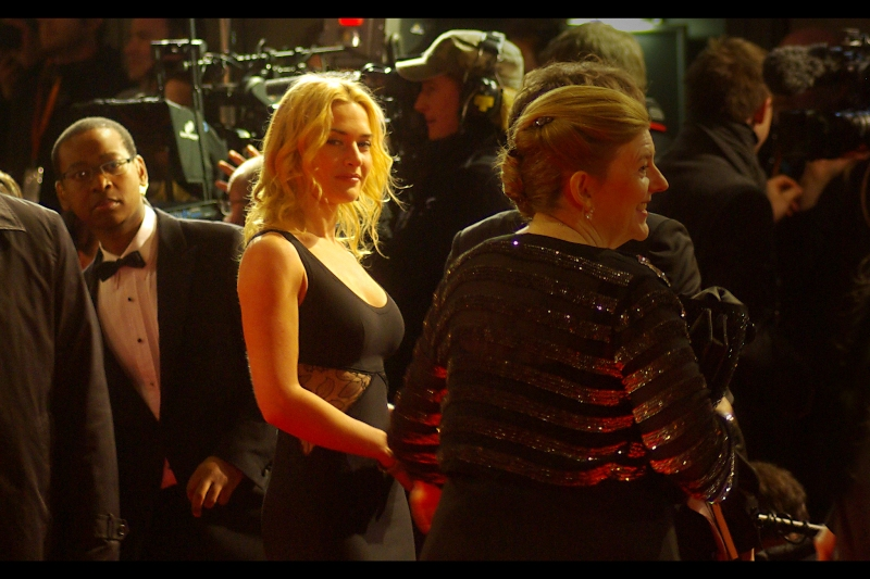 """For the second time in just over a year ( the premiere of """"Revolutionary Road""""  being the other), Kate Winslet and I  Share A Moment  . And it makes me happy to feel like I'm being objectified by Kate Winslet."""