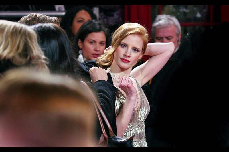 "Jessica Chastain is super-friendly AND in ""The Help"". AND in  ""The Debt"""