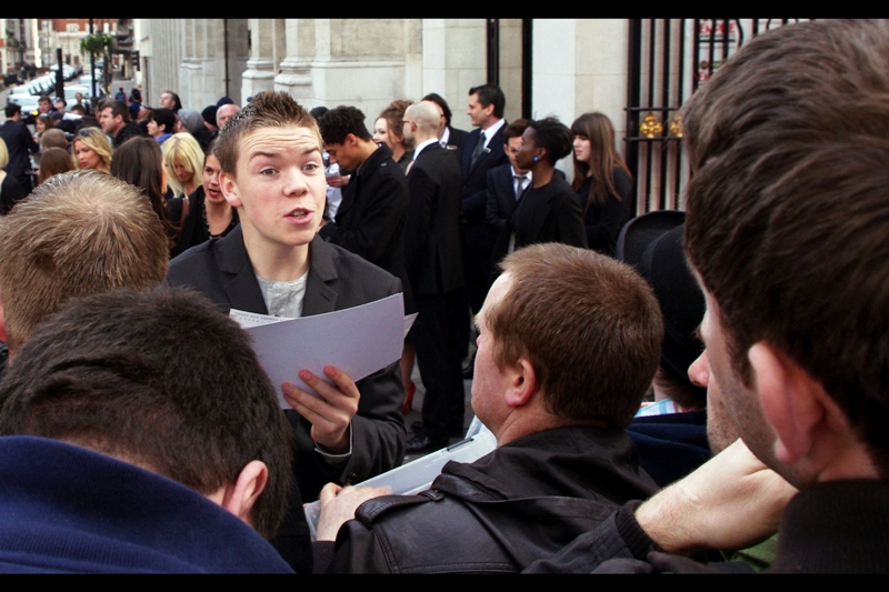 """Will Poulter was also at  last week's """"Wild Bill"""" Premiere , where he provided a dizzying array of funny expressions. He may have grown even more since then, too."""