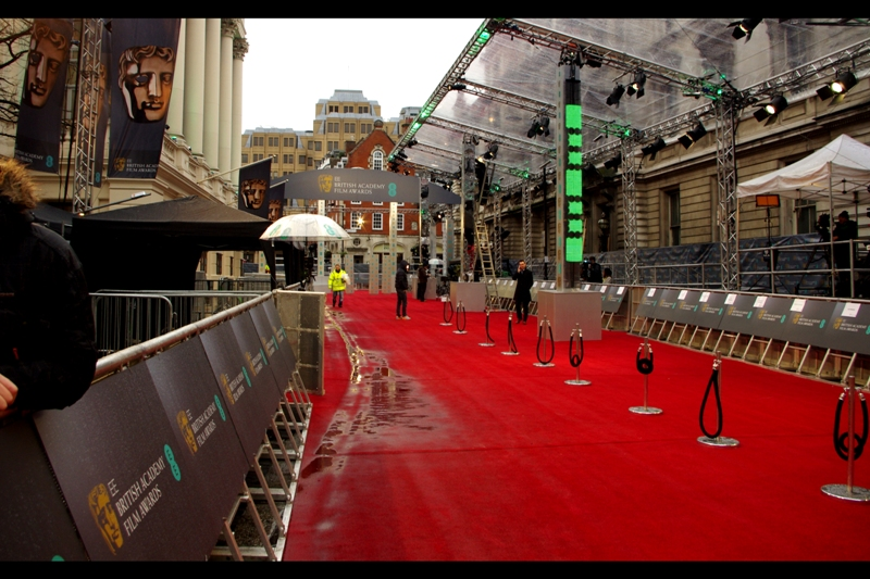 So it's the BAFTAs. I queued for about 3.5 hours (from 4:30am) for my wristband, and then got my spot and waited for another4 hours or so for the event to start. I think I lost some weight having to maintain my own body heat in 3-4 degree temperatures though. (Worth it on that fact alone).