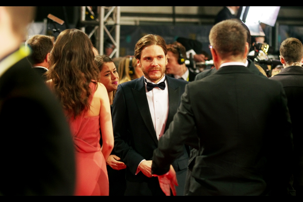 Daniel Bruehl was nominated for Best Supporting Actor for his role as race driver Niki Lauda in  Ron Howard's Rush