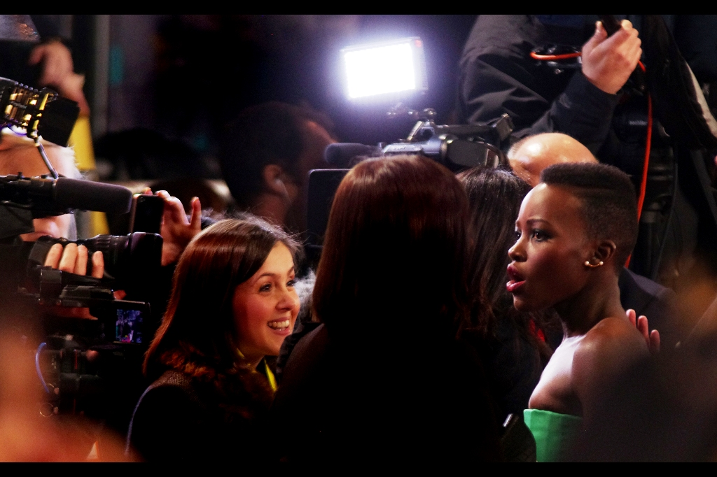 "Lupita Nyong'o was nominated for  Best Supporting Actress for 12 Years A Slave  and also the Rising Star Award. She lost the latter to the aforementioned Will Poulter, and the former to Jennifer Lawrence in ""American Hustle"". Sadly, Jennifer was unable to attend the ceremony… but that's okay because she and I will always have  that moment we shared at last year's BAFTAs"