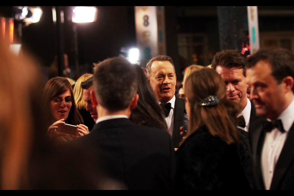 I last snapped Tom Hanks drinking coffee at the premiere of  Saving Mister Banks at least year's London Film Festival , but about a week before that I photographed him at  the premiere of Captain Philips  for which he received a BAFTA nomination. He lost to Chiwetel Ejiofor, but all that aside I doubt strongly that it sucks to be Tom Hanks.