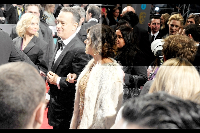 Amazingly, a second runthrough of the photos showed Cate Blanchett in the background of a photo I'd assumed was just Tom Hanks! (I'll take my excitement where I can get it. Photographically speaking, I mean)
