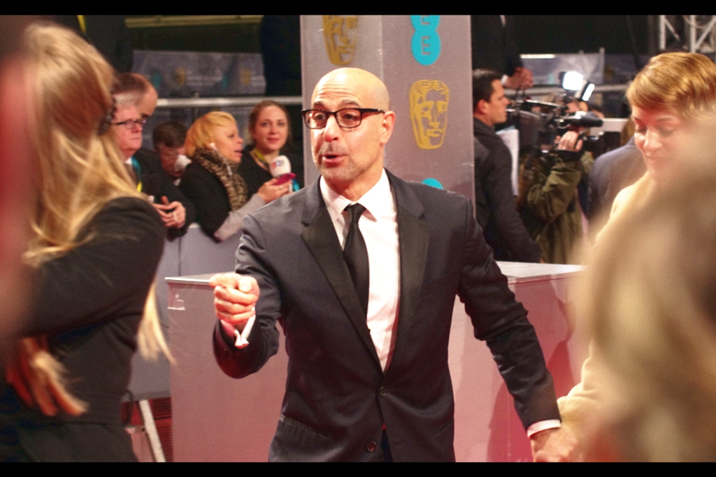 Stanley Tucci is very cool in all his roles, and is a personal hero of mine as I think that among all the bald male white action stars, he seems to be the one that offers a different paradigm to go with the lack of hair.