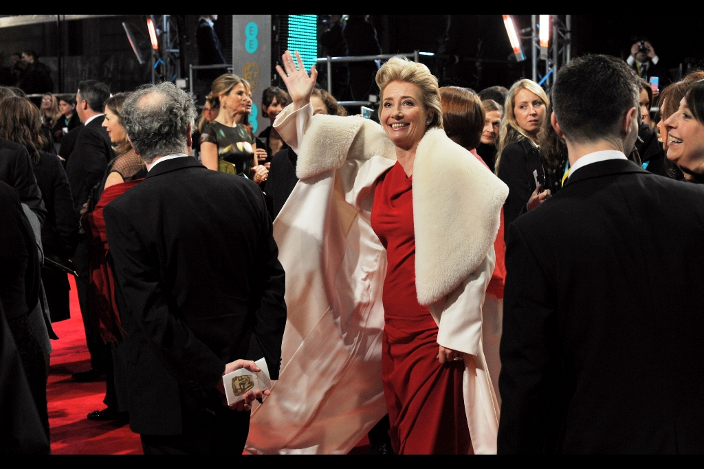 Another shot of a calmer, more restrained Emma Thompson this time. Though the hair does retain a complexity that puts it at 7.2 on the 10.0-point Streep-Duchovny Scale (refer  the 2012 Baftas  and the  premiere of X-Files : I want to believe )