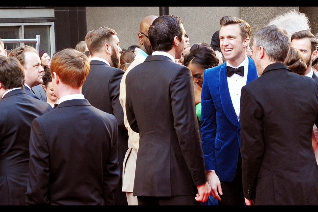 If I've learned one thing, it's that Blue Suit = Famous. And More Blue = More Famous. And if I'm wrong, I don't want to be right. (edited to add : I'M RIGHT! He's Gavin Creel, and he won an Olivier as Best Actor in a musical, Book of Mormon)