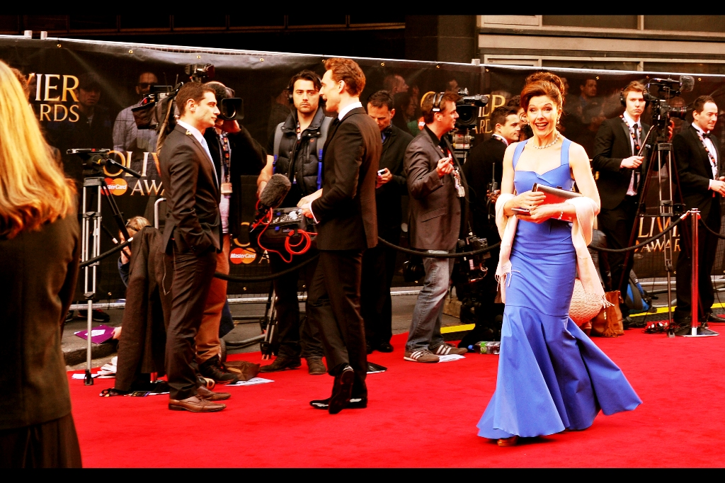 In all the excitment, somebody snuck past Tom Hiddleston. I might have been the only person to notice.