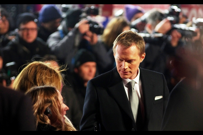 Meanwhile, here's one errant photo of Paul Bettany, who is also in this film, and possibly even more well known for being 'Jarvis', the robot voice of Iron Man's suit / electronic butler.