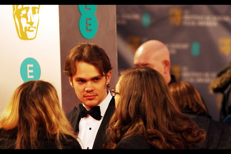 "Assistant:  ""Did you watch what  Redlettermedia had to say about ""Boyhood""?  Let's say it wasn't flattering!""  Ellar Coltrane:  ""Lady, I just came here for the free drinks and to look awesome in a tux"""