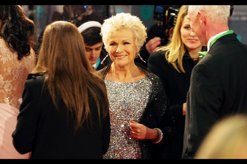 Julie Walters hasn't merely won SIX Baftas, but also played Molly Weasley in the Harry Potter films. So between her and Hiddleston and Cumberbatch we've got a pretty serious BIG THREE left on the red carpet as this thing heads to a close...