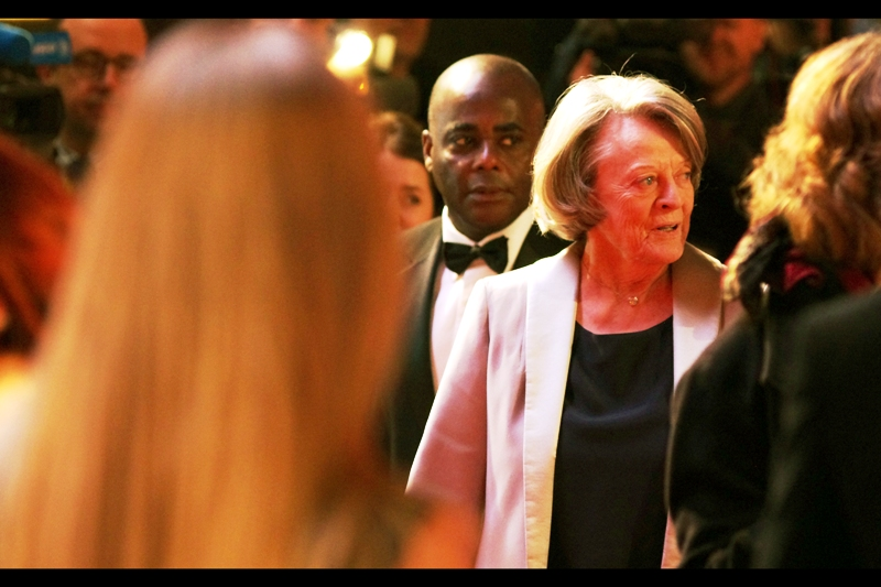 """Oh, what the f**k has Potter done this time??"" . It pleases me to imagine that Oscar-Winning Dame Maggie Smith swears like a sailor when she's a civilian. I last photographed her (from memory) at the  Dustin Hoffman-directed ""Quartet"" premiere"