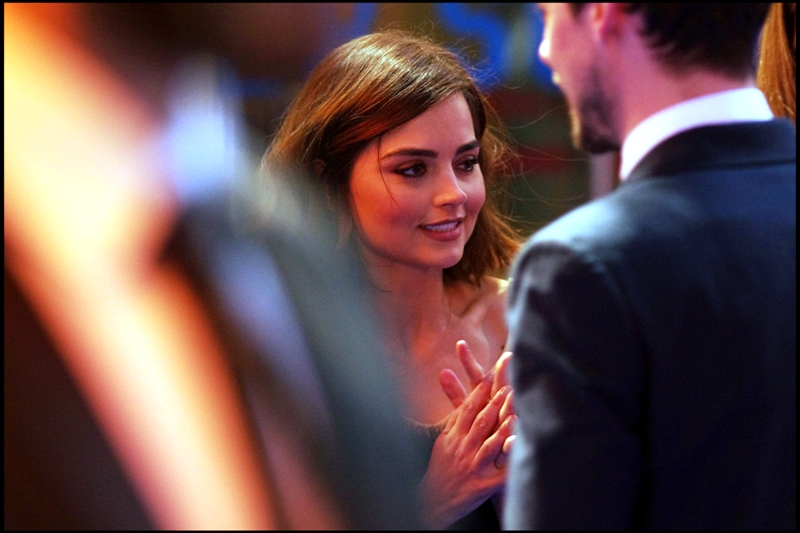 Jenna Coleman is planning something... possibly something evil. I'm pretty sure I support it - she's cute.