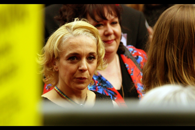 If this IS Amanda Abbington, then not only is it, like the third person I've identified in about 20 photos, but she's been in the TV series 'Mr Selfridge' which I've never watched, and something called 'Dinopaws', which I've never heard of.