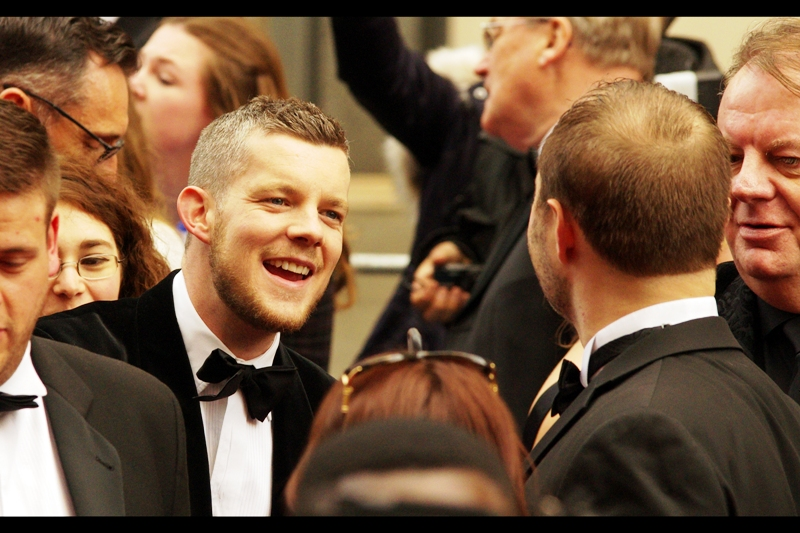 """""""Hi, I'm Russell Tovey. And you are...?""""  Me? I'm wondering who Russell Tovey is. I heard people screaming 'Benedict!!!!' and I didn't see him... so perhaps the crowd in the pen are as uncultured as I am."""