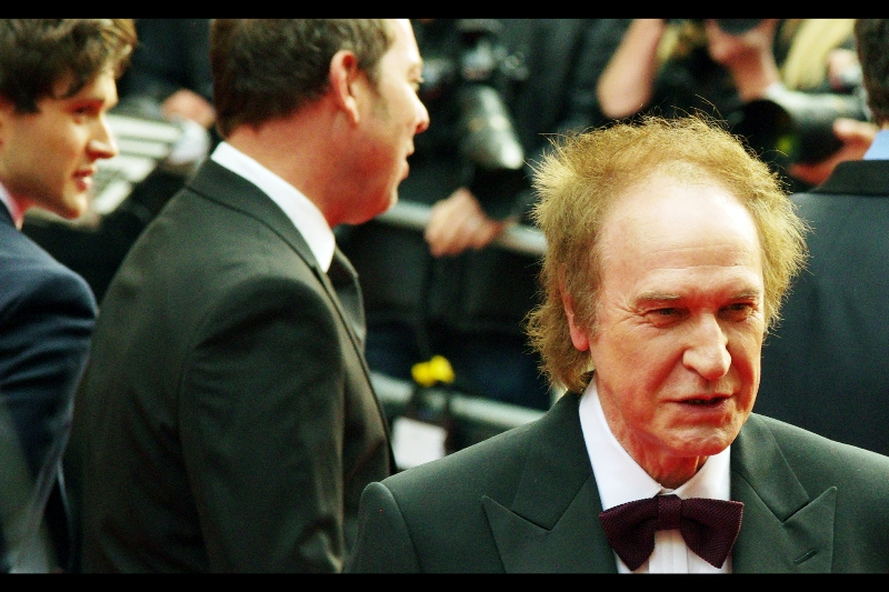 """""""When hair like mine you have, look as good you will not... hmmm?"""" I'll never have hair like that.... sadly. Or an Olivier Award, unless I steal one of the two giant cardboat cutout ones in the dark alleway. Or both... frankly, I'd like both. Oh, and this is Ray Davies, whose score for the musical """"Sunny"""" provided him with a special outstanding achievement award."""