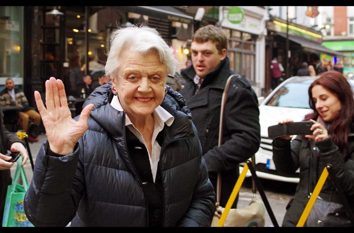 (photo taken last February) - this is the *only* instance in the past year that I waited outside a theatre to photograph somebody. Because, yes, Angela Lansbury is *that* cool. (Because yes, apparently I am an arbiter of cool)