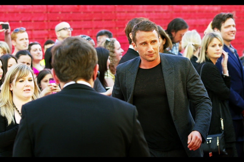 Matthias Schoenaerts plays the male lead in the film. I last photographed him at  the premiere of 'Rust and Bone'  back in 2012. He was very good in that, as was Marion Cotillard. And the weather is just getting warm enough to get away with the jacket/black-t-shirt look I've been preparing to unveil for over half a year now.