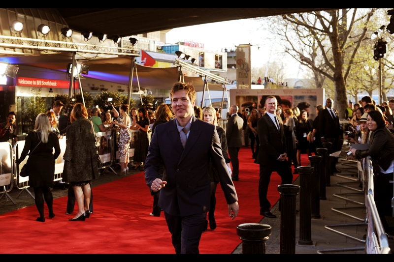 Thomas Vinterberg has a vaguely Tom Cruise-ian demeanour as he strides, determined to sign every autograph he's asked to provide. The interviews can wait... besides, the bright lights bouncing off Carey Mulligan's dress are causing cataracts among bystanders.