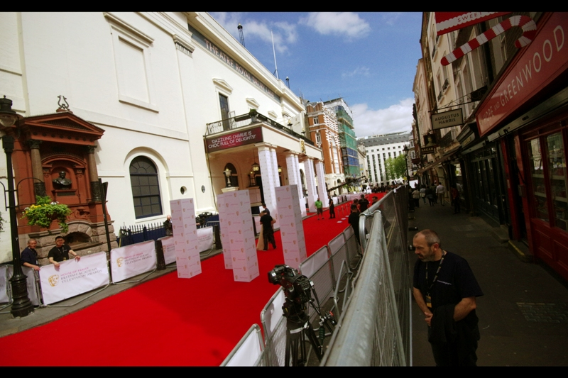 "The Theatre Royal is on Drury Lane, just down the road from the Royal Opera House, which is where the (""real"") Film Baftas are held each year. It is also smaller and more cramped. Still.. the carpet is red and the Bafta logo looks legit... so why not?"