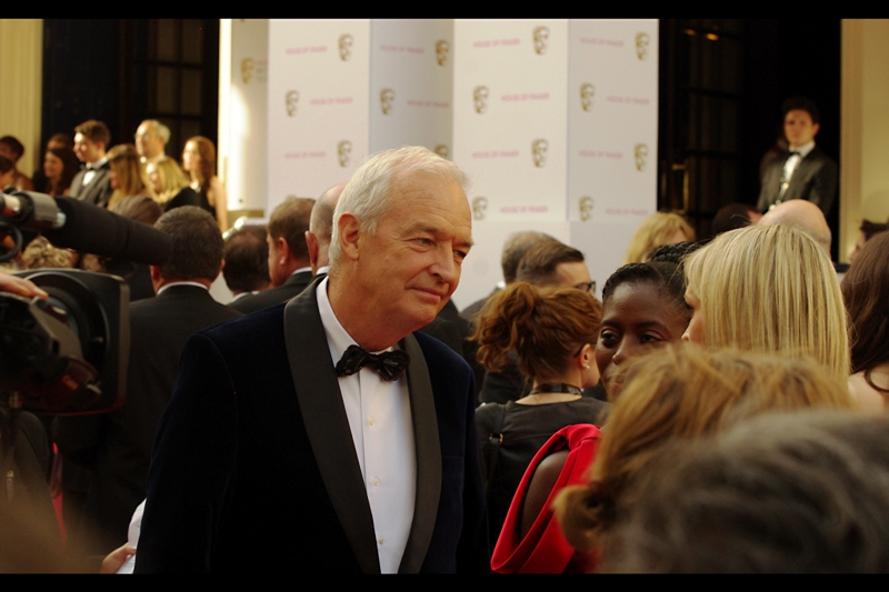 """I think I know who you are, but just to make it easier, just confirm you're not on Sherlock, or Game of Thrones, or Top Gear..."" (edited to add : OMG - his name is Jon Snow. Like from Game of Thrones but without the scraggly Kit Harington hair) (he won a Bafta Fellowship on the night, so he's arguably even more importan than a fictional character)"